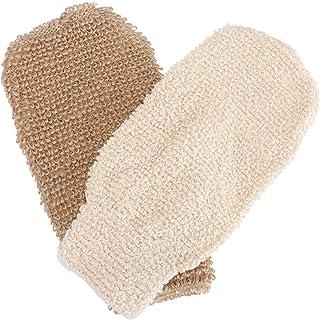 Beaupretty 2 stuks jute bad handschoen bad douche handschoenen peeling lichaam washandschoenen hand handschoen natuurlijke...