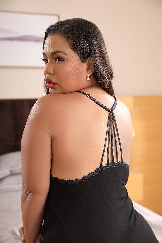 XAKALAKA Women Plus Size Pajamas Cami Shorts Set Nightwear Sexy Lace Lingerie Sleepwear