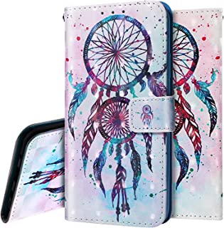 PHEZEN Case for Galaxy Note 10 Plus Wallet Case,3D Bling PU Leather Folio Flip Case Full Body Protective Phone Case Cover with Kickstand Credit Card Wrist Strap for Galaxy Note 10 Plus - Dreamcatcher