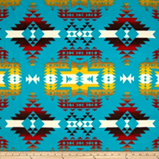 Baum Textiles Winter Fleece Canyon Turquoise Fabric By The Yard, Turquoise