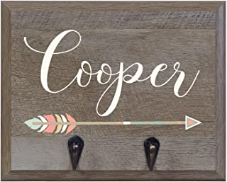Rooms Organized Personalized Re-Engineered Barn Wood Family Name Decor Wall Mounted Coat Hat and Dog Leash Rack Storage with 2 Metal Hooks 10