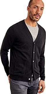 WoolOvers Mens Cashmere and Merino V Neck Knitted Cardigan