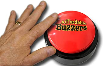 Affordable Buzzers 10-Player Tabletop Quiz Game Buzzer System with 25ft Cables for Windows (Mac Available - See Separate Listing)
