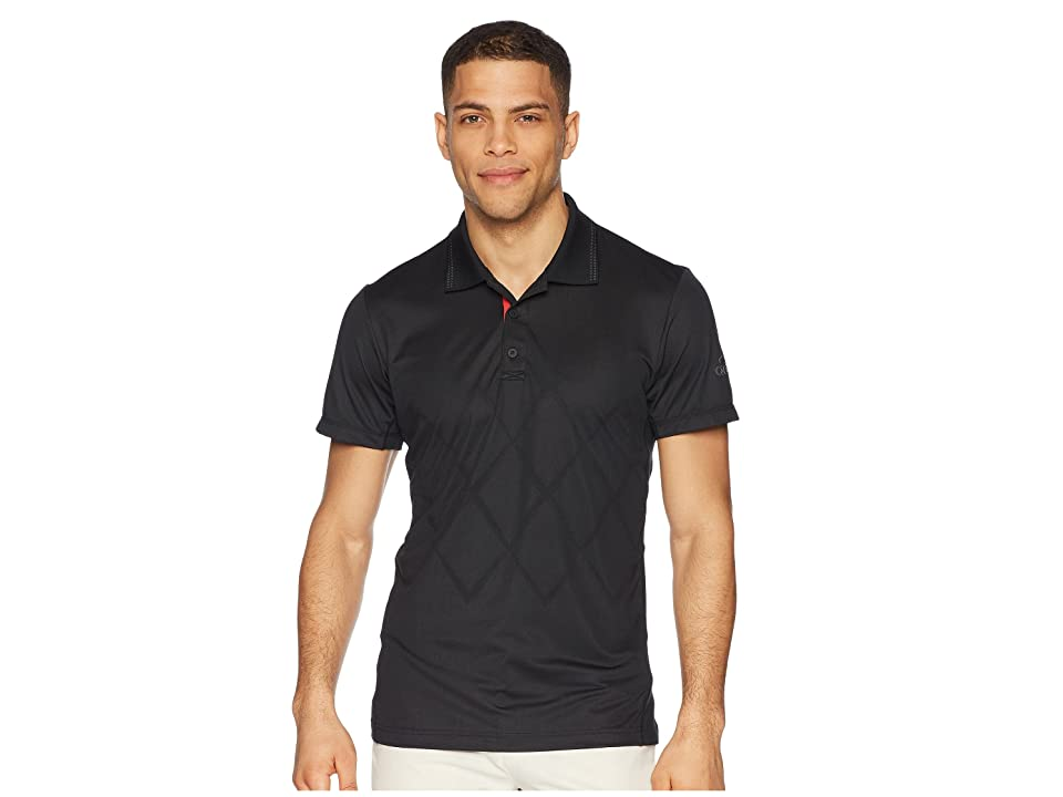adidas Barricade Engineered Polo (Black) Men