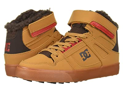 DC Kids Pure High-Top WNT EV (Little Kid/Big Kid) (Wheat/Dark Chocolate) Boys Shoes