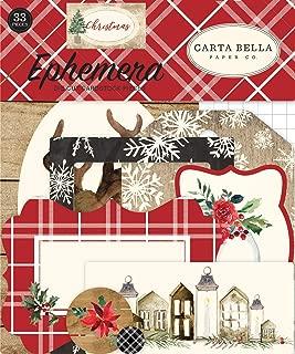 Carta Bella Paper Company CBCH89024 Christmas Ephemera, Red/Green/Black/Tan