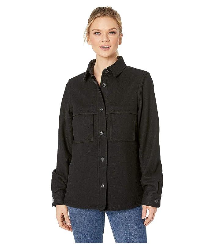 Filson Wool Jac Shirt (Black) Women's Short Sleeve Pullover