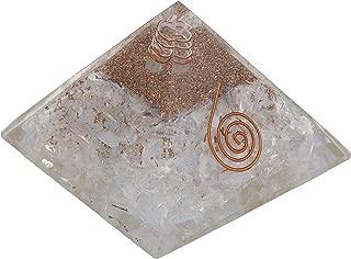 Crocon Opalite Stone Orgone Pyramid for Chakra Balancing Crystal Energy Generator Reiki Healing EMF Protection Spiritual Meditation Home Office Decor Size: 2.5-3 Inch