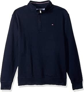Men's Big and Tall Big & Tall Mock Quarter Zip Sweater