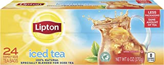 Lipton Family-Size Iced Tea Bags Picked At The Peak of Freshness Unsweetened Tea Can Help Support a Healthy Heart 6 Oz, 24...
