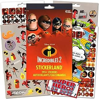 Disney The Incredibles Stickers Bundled With Specialty Superhero Door Hanger - 295 Incredibles 2 Reward Stickers