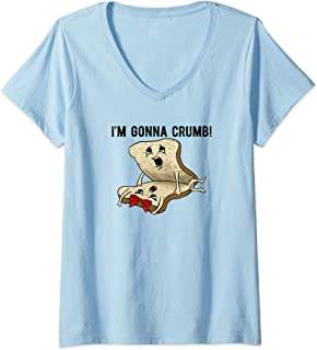 Womens I'm Gonna Crumb Two Pieces Of Bread Having Sex THE ORIGINAL V-Neck T-Shirt