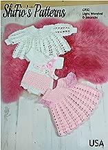 Crochet Pattern for Baby Dress, Jacket, Headband & Bodysuit, 1 Size, Light Worsted Yarn CP32