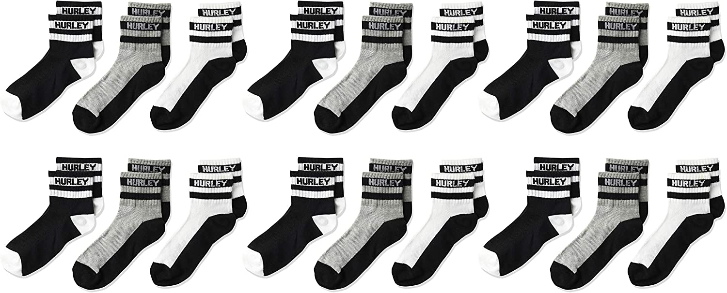 Hurley Boys 6-pack Active Everyday Knit Ankle Socks