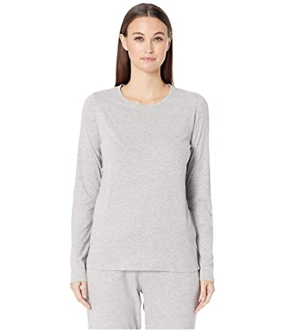 Skin Natural Skin Jael Organic Cotton Long Sleeve Tee (Heather Grey) Women