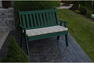 A&L Furniture Company Recycled Plastic 4' Traditional English Garden Bench