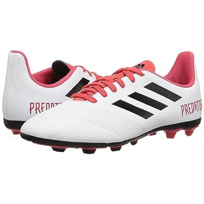adidas Kids Predator 18.4 FG (Little Kid/Big Kid) (White/Black/Real Coral) Kids Shoes