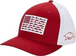 Arkansas Razorbacks PFG Mesh™ Fish Flag Ball Cap