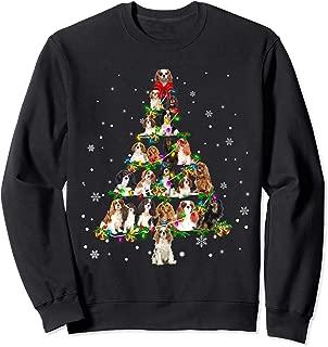 Cavalier King Charles Spaniel Christmas Tree X-Mas Gift Sweatshirt