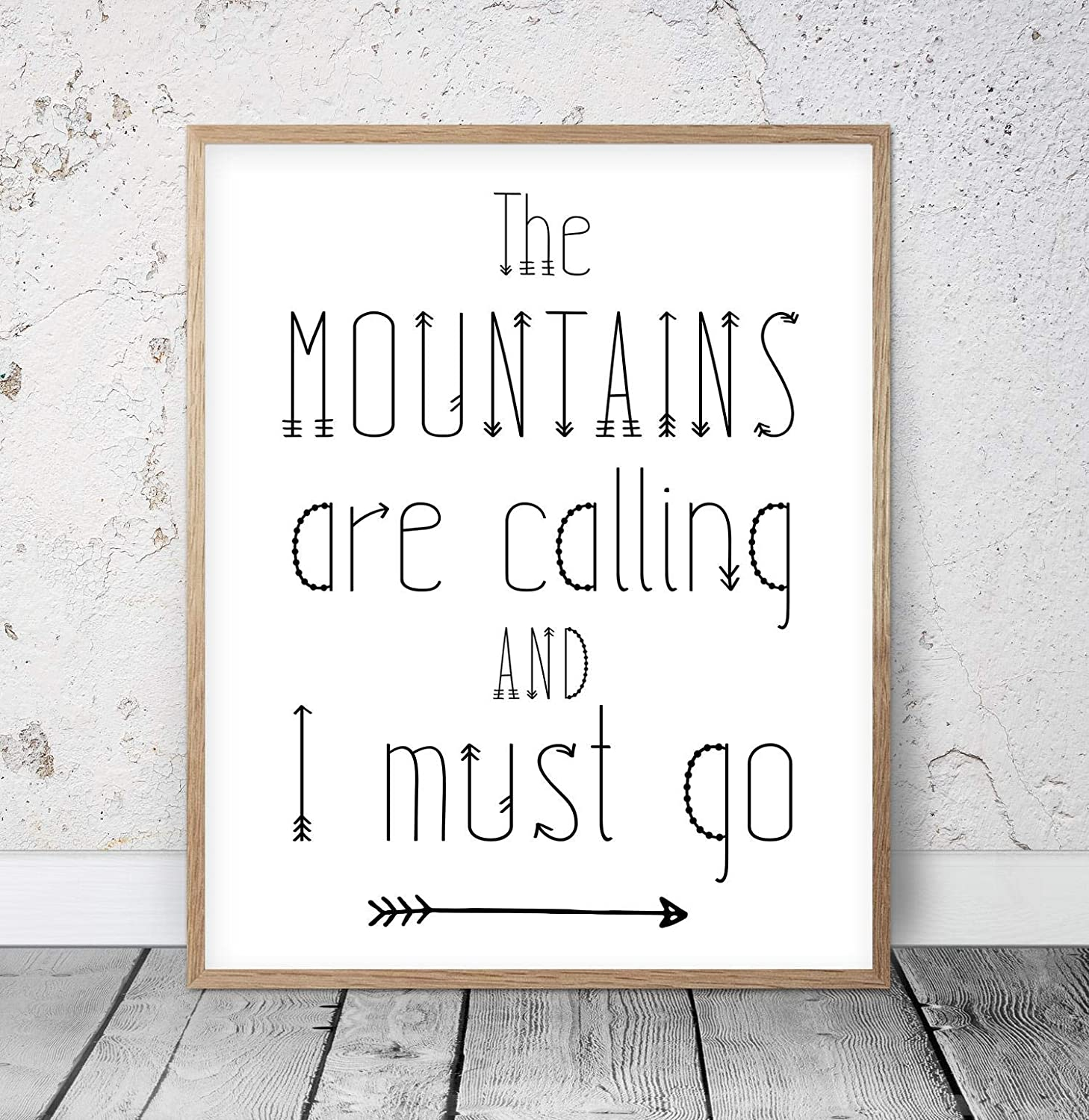 Wood Cheap super special price Pallet Plaque with Frame The Mu Dedication Mountains and are I Calling