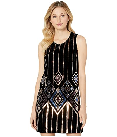 Miss Me Sequin Mini Dress (Black) Women