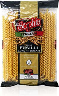 "Sophia Pasta (special cut)-Long Fusilli ""Col Buco"" 16oz-6 pack"