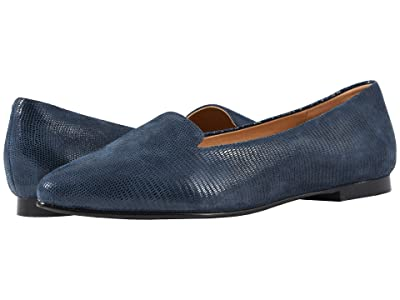 Trotters Harlowe (Navy Soft Lizard Embossed Patent Suede) Women
