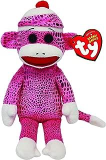 Ty Beanie Babies Sock Monkey Pink Sparkle Plush