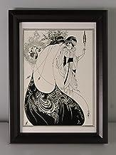 BiblioArt Series オーブリー・ビアズリー「孔雀の裳裾」額装品2