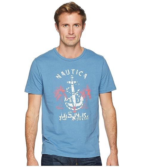 Anchor estampado de Camiseta con en palmeras azul Nautica marino color aqnn5B