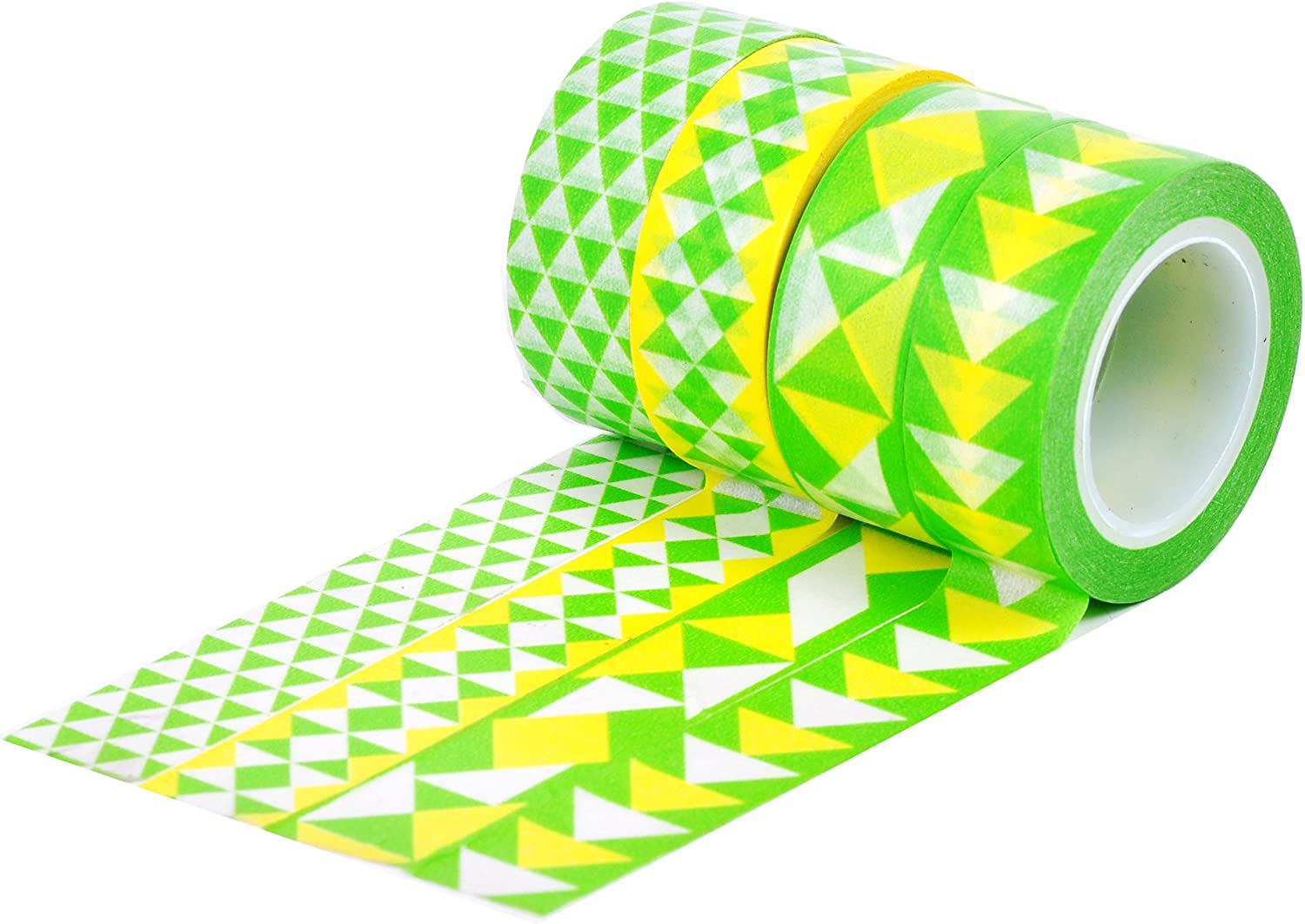 HIART Repositionable Washi Tape, Triangle Geos Gelb and Grün, Set of 4 by HIART B00H0ADFNW     | Online-Exportgeschäft