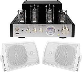 """Rockville BluTube Tube Amplifier/Home Theater Bluetooth Receiver+5.25"""" Speakers"""