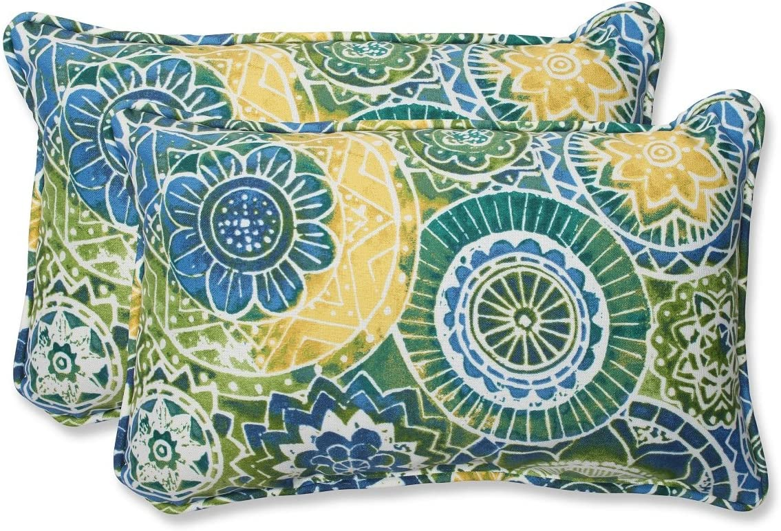 Set of 2 Laguna Mosaico Max 57% OFF Blue and 5 ☆ popular Yellow Corded Th Outdoor Green