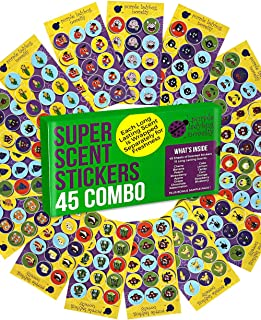 Purple Ladybug 45 Sheets of Scratch and Sniff Stickers for Kids & Teachers with 15..