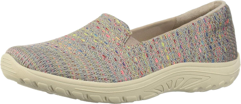 Skechers Womens Reggae Fest - Wicker - Engineered Knit Twin Gore Slip on (Willows) Loafer Flat