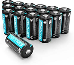 CR123A 3V Lithium Battery RAVPower Non-Rechargeable Lithium Batteries [16 Pack 1500mAh..