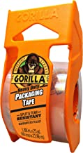 """Gorilla Heavy Duty Packing Tape with Dispenser for Moving, Shipping and Storage, 1.88"""" x 25 yd, Clear, (Pack of 1)"""