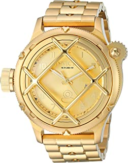Invicta Men's Russian Diver Quartz Watch with Stainless-Steel Strap, Gold, 25.8 (Model: 26466)