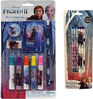 Disney Frozen II Elsa, Anna & Olaf Stationary Set 9 Pc Set Plus 6 Pack Pencils