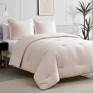 Sponsored Ad - Bedsure Khaki King Comforter Sets - Bed Comforter King Set, Comforter Cationic Dyeing King Comforter with 2...