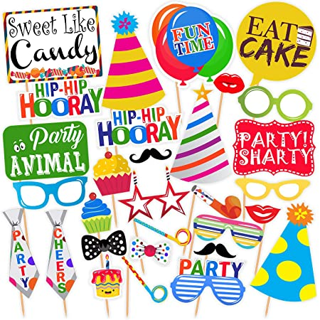 SYGA Set of 30 Universal Party Theme Props, Suitable Props for All Party