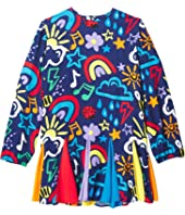 Long Sleeve Crayon Weather Dress with Inserts (Toddler/Little Kids/Big Kids)