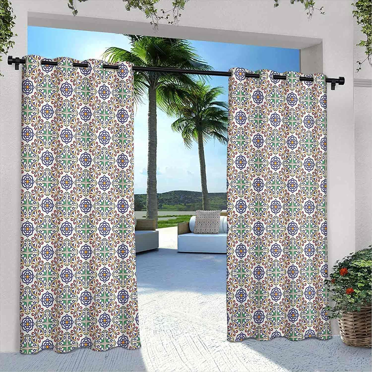 Geometric Outdoor Curtains for Portuguese Patio It is very popular Waterproof Free shipping anywhere in the nation Tile