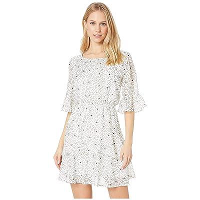 BB Dakota Dots On Dots Dress (Ivory) Women
