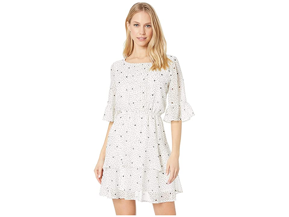 BB Dakota Dots On Dots Dress (Ivory) Women