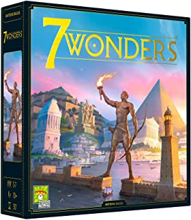 7 Wonders Board Game (BASE GAME) - New Edition | Family Board Game | Board Game for Adults and Family | Civilization and S...