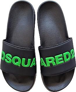 DSQUARED ciabatte a fascia sandalo slide in gomma DY0001 P2339 H0672 nero