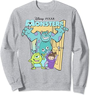 Pixar Monsters Inc. Mike Sully Boo Group Poster Sweatshirt