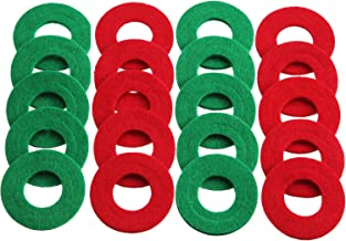 Set of 10 Battery Terminal Anti Corrosion Washers Fiber 20 Pieces Battery Terminal Protector (10 Red and 10 Green)