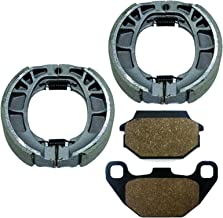 Caltric FRONT BRAKE SHOES & REAR PADS Fits KYMCO MXU 150 2005-2012